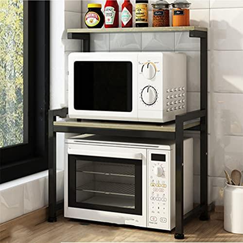 Rejillas de horno microondas, particiones de rejillas de almacenamiento doméstico, multifuncionales y resistentes. Adecuado para guardar tarros de condimentos, hornos microondas y hornos en la cocina.