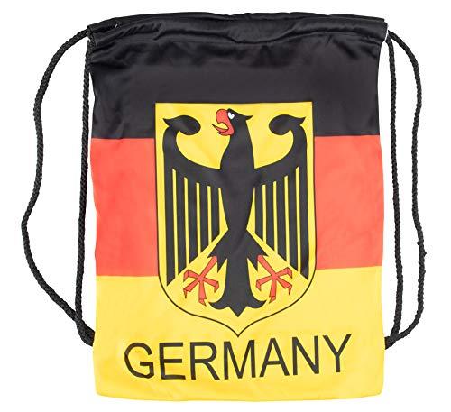 Halal-Wear Deutschland Turn-Beutel WM EM Fan-Artikel Deutschlandfahne Groß Germany National-Flagge Rucksack Sport Tasche deutschlandflagge