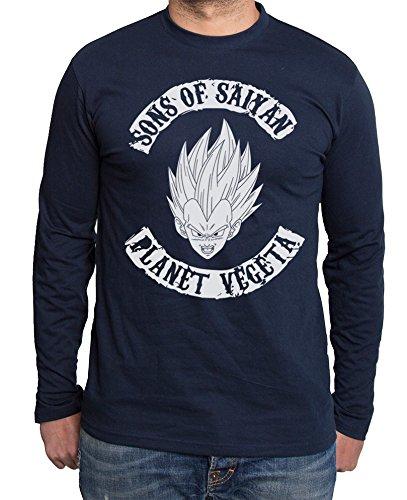 Sambosa - T-Shirt à Manches Longues - Homme - Bleu - XX-Large