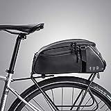 moonlux Bolsa Trasera para Bicicleta Multifuncional Bolsa de Asiento Trasero 8L Bolsa de Bicicleta Bicicleta del Asiento Trasero del Tronco Bolsa de Hombro para Ciclismo al Aire Libre