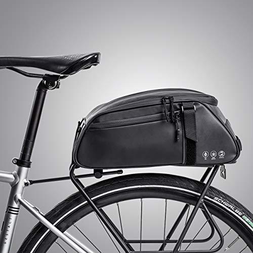 moonlux Fahrradtasche Fahrrad Satteltasche Wasserabweisende Gepäcktasche Gepäckträger Tasche Rucksack Seitentasche 8L Schultertaschen