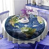 Mapa del mundo Mantel redondo Planeta Tierra Imagen Desde el
