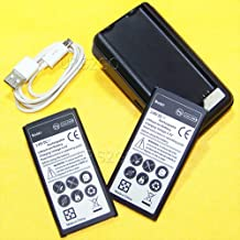 Galaxy S5 Active Battery Kit, 2X 6190mAh Spare Rechargeable Battery Travel Dock Home Charger Micro USB Cable for AT&T Samsung Galaxy S5 Active SM-G870A Phone