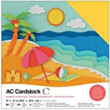 American Crafts 376988 Cardstock Variety Pack Summer 60 Sheets of 12 X 12