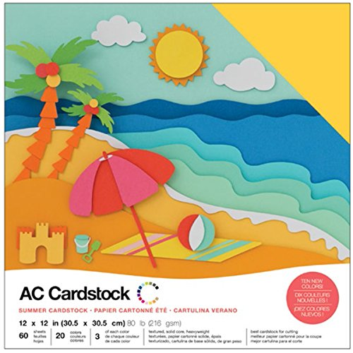 American Crafts Kit de Scrapbooking Summer Cardstock AC 30x30cm
