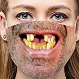 Lulupi Mundschutz Multifunktionstuch 3D Druck Lustig Bandana Maske Waschbar Wiederverwendbar Stoffmaske Bedeckung Atmungsaktiv Mund-Nasenschutz Mund Nasen Motiv Halstuch Schals für Herren Damen