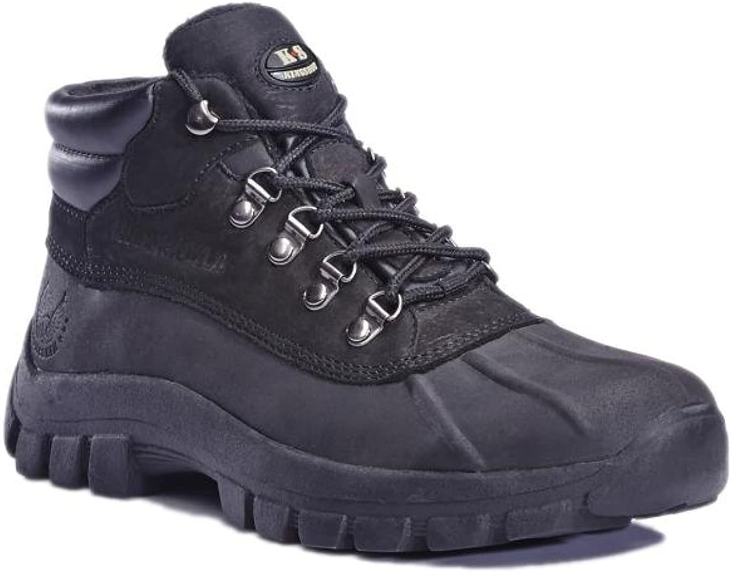 KINGSHOW 1428 Water Proof Men Rubber Sole Winter Snow Boots Black size 11
