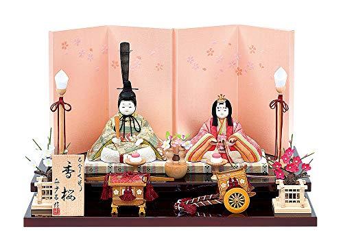 雛人形 真多呂 木目込み 高級 コンパクト かわいい 逸品古今親王・セット香桜(かおう)親王飾り
