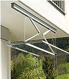 Juwel Deckentrockner Samba 200 (für bis zu 2 Waschmaschinenladungen, Aufhängelänge 18 m, Wäschetrockner für große Wäscheteile / Bettwäsche, bis 120 cm stufenlos absenkbar) 30040
