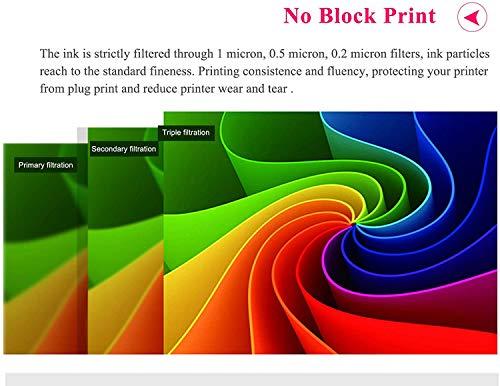 Aomya - Kit de recambio de tinta universal para impresoras HP Canon Epson Brother Lexmark (600 ml), cartucho recargable CISS CIS System 4 colores con 4 jeringas gratis (3BK, C, M, Y)
