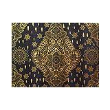 HASENCIV 500 Piezas Rompecabezas Rompecabezas Mandala Bohemian Paisley Ornament Tattoo Vintage Design Print Familia Educativo Intelectual Descompresión Diversión para Adultos Jovenes y Familias