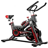 CAGARNY Exercise Bike Indoor Weight Loss Folding Spinning Bike Fitness Bike Dynamic Bicycle Fitness Home Gym Machine for Training