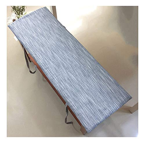 GERYUXA Cojines de asientoTapizadoArena Asiento de Silla Comedor Jardínalmohadilla de Repuesto para colchón de Asiento de Viaje Interior y Exterior-Un 150×40×4cm(59×15×1.6in)
