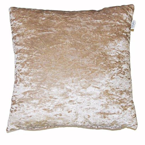 Luxurious velvet cushion cover ivory cream 24' X 24' (60cm x 60cm)