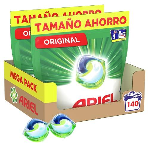 Ariel Pods Detergente Lavadora Cápsulas, 140 Lavados (Pack 2 x 70), Original