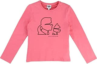 Karl Lagerfeld Kids Pink Karl & Cat T-Shirt