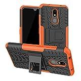 LFDZ Nokia 3.2 2019 Hülle, Abdeckung Cover schutzhülle Tough Strong Rugged Shock Proof Heavy Duty Hülle Für Nokia 3.2 2019 Smartphone(Not fit Nokia 3.1),Orange