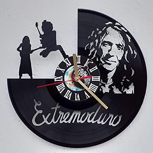 Vinywoody Extremoduro Reloj de Pared de Disco de Vinilo