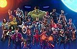 Puzle de 1000 Piezas, póster de Personaje de película para Adultos, Juego Familiar, Universo Mar-Vel, Rompecabezas, Infinity War, superhéroe, Dibujos Animados Anime Avengers League Puzzl