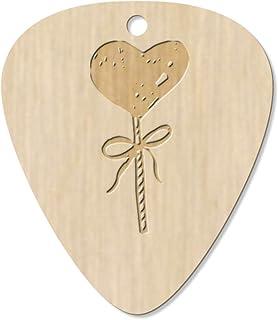 7 x 'Heart Lollipop' Guitar Picks / Pendants (GP00013463)