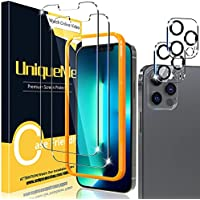 4-Pack UniqueMe 6.7 inch Tempered Glass Screen and Lens Protector