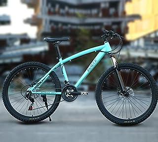 MACCE للجنسين قرص الفرامل 21 سرعة دراجة الجبلية ، عجلة مدببة 26 بوصة ، أزرق ، مقاس L