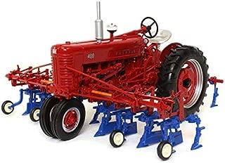 Spec Cast Farmall 400 Tractor w/ 4 Row Cultivator 1:16
