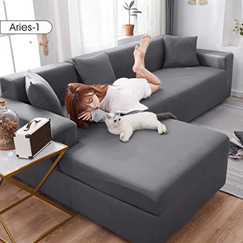 Fundas de sofá de esquina de color sólido para la sala de estar elástico spandex fundas de sofá cubierta de estiramiento sofá toalla en forma de L necesidad de comprar