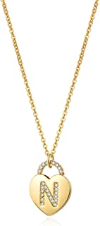 MONOZO Initial Necklacefor Women Gold, 14K Gold Plated Letter Charm Necklaces Cubic Zirconia Pendant Key Initial Necklace for Women Her Teen Girls Birthday