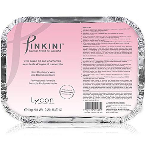 Lycon Pinkini Brazilian Hybrid Hot Wax XXX with Argan Oil and Chamomile / 2.2 Lbs.