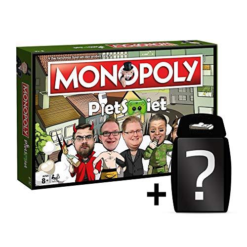 PietSmiet - Monopoly - Brettspiel - Deutsch | Set inkl. Kartenspiel