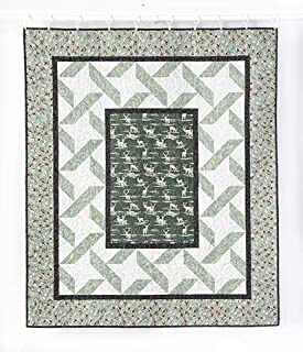 a cardinal winter quilt kit