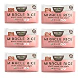 Miracle Noodle Miracle Rice - Gluten-Free Shirataki Rice, Keto, Vegan, Soy Free, 0 Calories, 0 Carbs, Kosher, Paleo, Dairy Free - 8 Ounce, Pack of 6