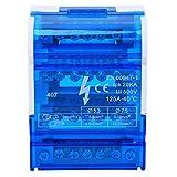 Caja de distribución de terminales 407 Bloque de terminales de carril DIN 67 x 90 x 50 mm Caja de proyecto eléctrico para ingeniería eléctrica