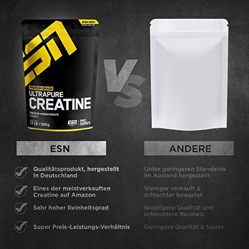 ESN Ultrapure Creatine Monohydrate, Pro Series, 1er Pack (1 x 500g Beutel) - 3