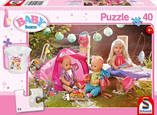 Schmidt Spiele Puzzle 56297 Baby Born, Komm, wir zelten, 40 Teile Kinderpuzzle, bunt