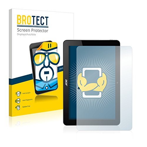 BROTECT Schutzfolie kompatibel mit Acer Iconia Tab 10 A3-A20FHD-K8KX (2 Stück) klare Bildschirmschutz-Folie