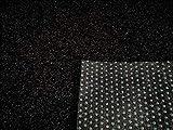 Rasenteppich Kunstrasen Premium schwarz grau Weich Meterware (400x500 cm)