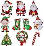 BESTZY Globo De Navidad 9PCS Christmas Balloons Globos de Aluminio para Decoración de...