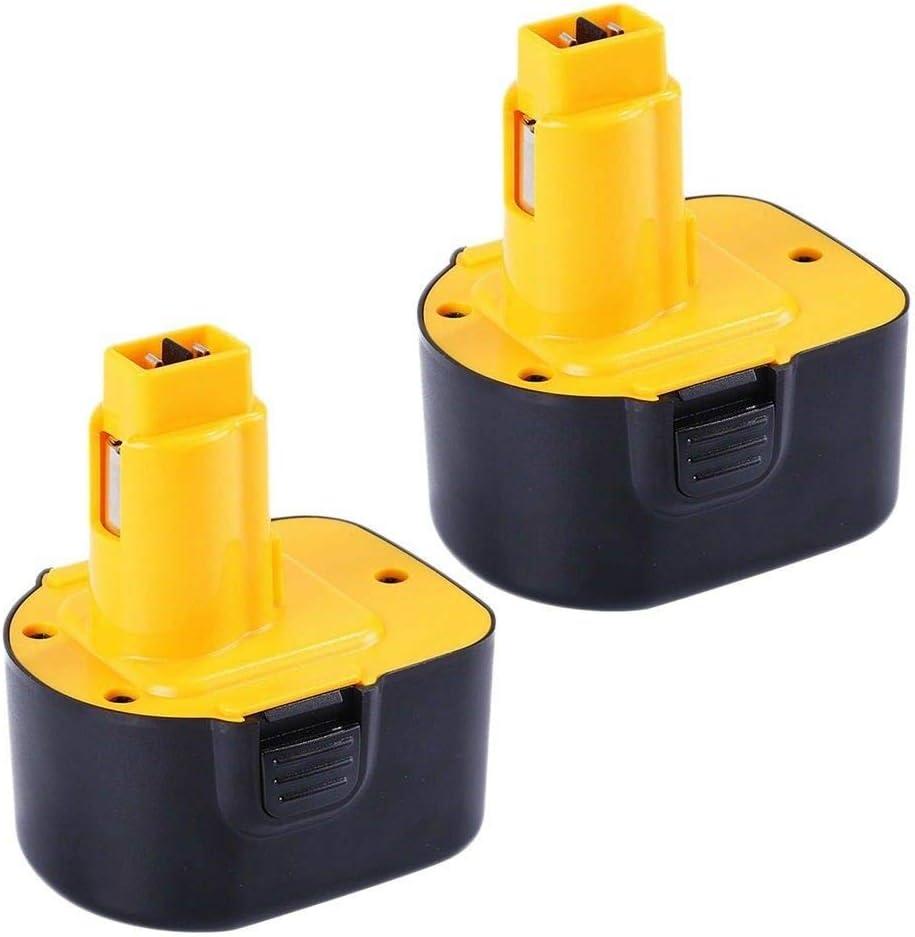 2X Venghts 12v 2.0ah DC9071 Ni-MH Batería de Repuesto para Dewalt 12V DE9074 DW9072 DW9071 DE9071 DE9072 DE9075 152250-27 397745-01