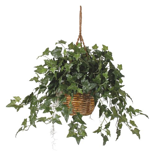 "Nearly Natural 6507 26in. English Ivy Hanging Basket,Green,29"" x 10.25"" x 10.25"""