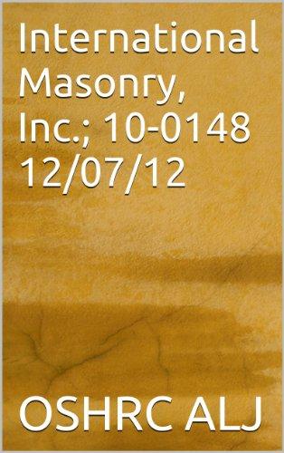 International Masonry, Inc.; 10-0148 12/07/12 (English Edition)