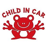 imoninn CHILD in car ステッカー 【パッケージ版】 No.22 カエルさん (赤色)