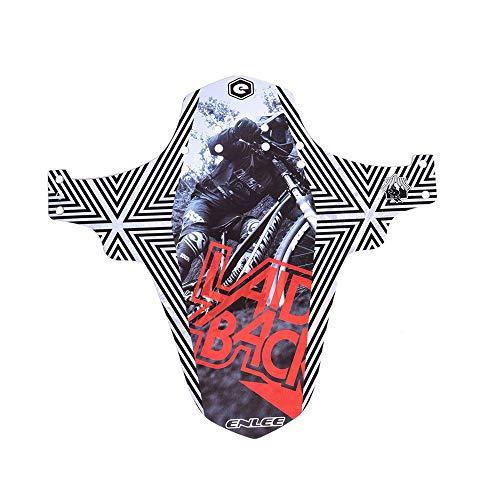 DLSMB-SP Fietsspatbord, draagbaar, ultradun, voorvork, knipperlicht, persoonlijkheid, designpatroon mountainbikes Fender