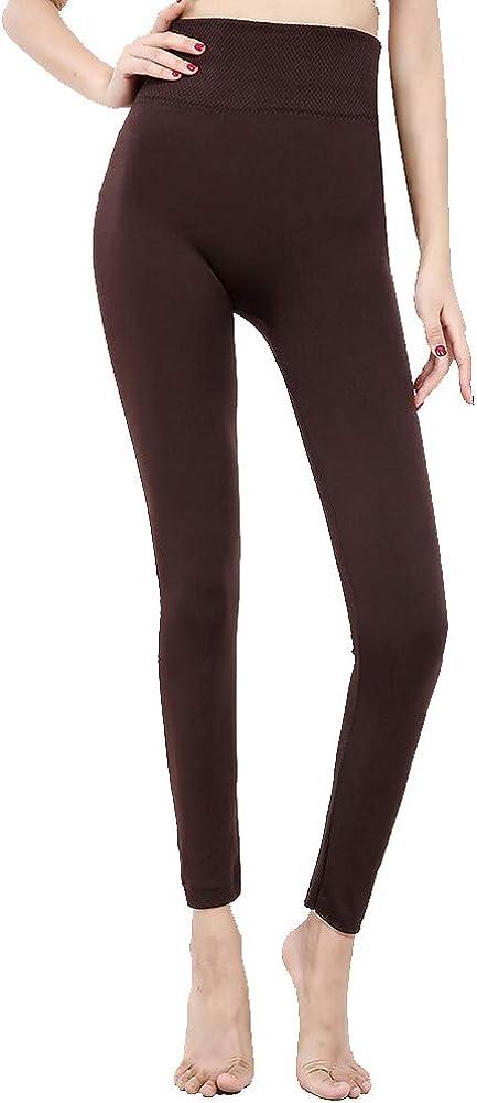 Women's Thermal Underwear Pants Seamless Leggings Micro Fleece Lined Long Johns Base Layer Bottoms