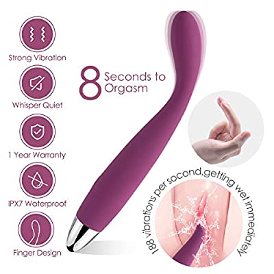 SVAKOM G Spot Vibrator, Waterproof Vibrator Dildo for Women, 25 Vibration Clitoris and Nipple Stimulator, Rechargeable Vagina Massager Adult Sex Toys for Female