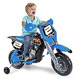 Feber- Rider Cross Moto Elettrica 6V e Helmet, 800012224