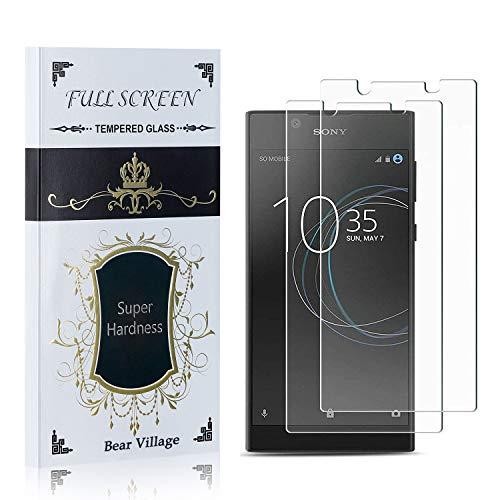 Bear Village® Displayschutzfolie für Sony Xperia L1 / E6, HD Panzerglasfolie, 99% Transparente, 9H Härtegrad Schutzfilm aus Gehärtetem Glas für Sony Xperia L1 / E6, 2 Stück