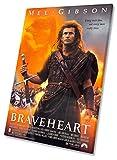 Braveheart Film Movie Poster Auf Leinwand, gerahmt Print