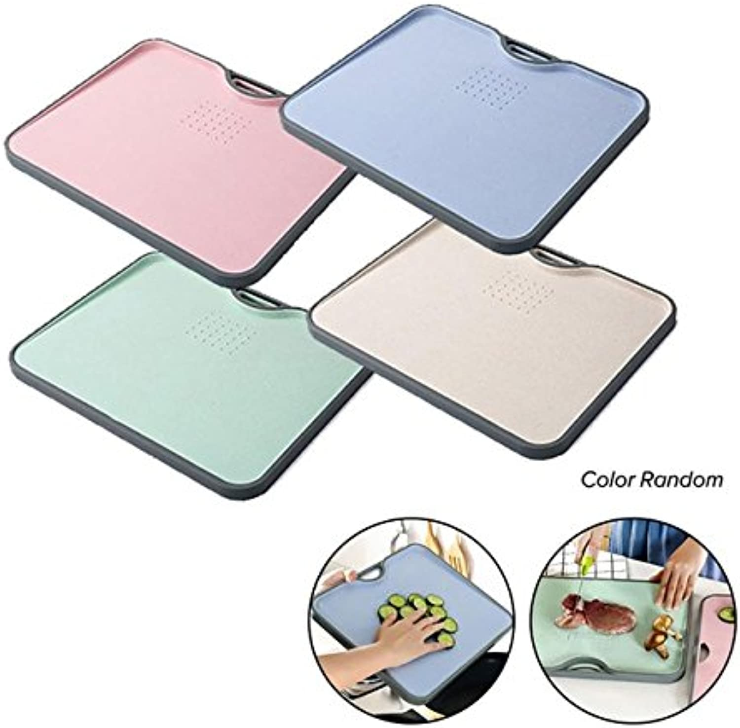Creative Non-Slip Cutting Block Eco-Friendly Wheat Straw Chopping Block Kitchen Fruits Food Vegetable Board Kitchen Accessories   in Random color